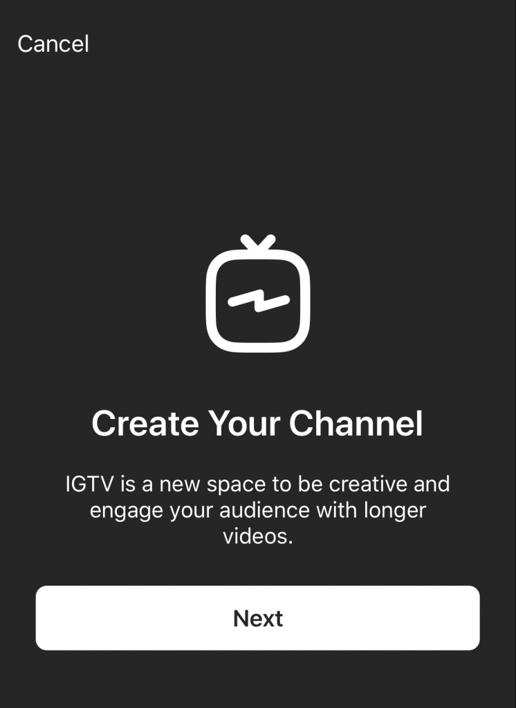 Create Your IGTV Channel