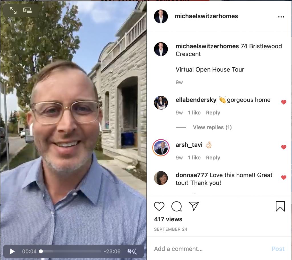 Michael Switzer Instagram Virtual Open House