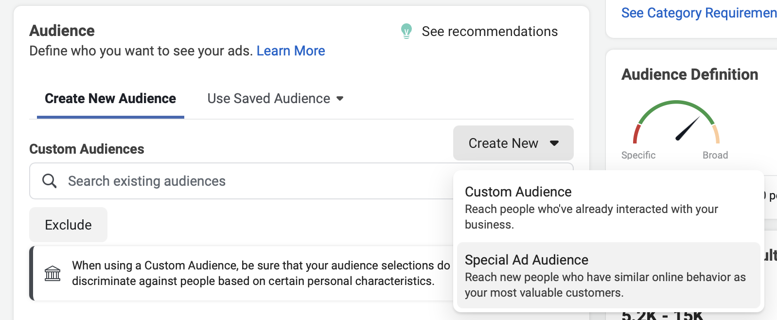 Special Ad Audiences